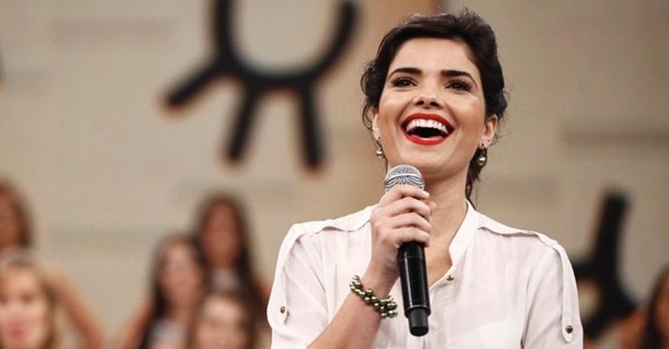 8.dez.2013 - Vanessa Giácomo participa do quadro