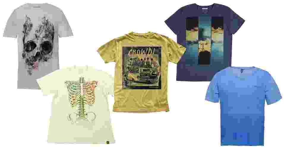 Camiseta é um presente que sempre agrada por sua versatilidade e cabe em qualquer bolso. Invista em modelos estampados, coloridos ou mesmo básicos - Divulgação