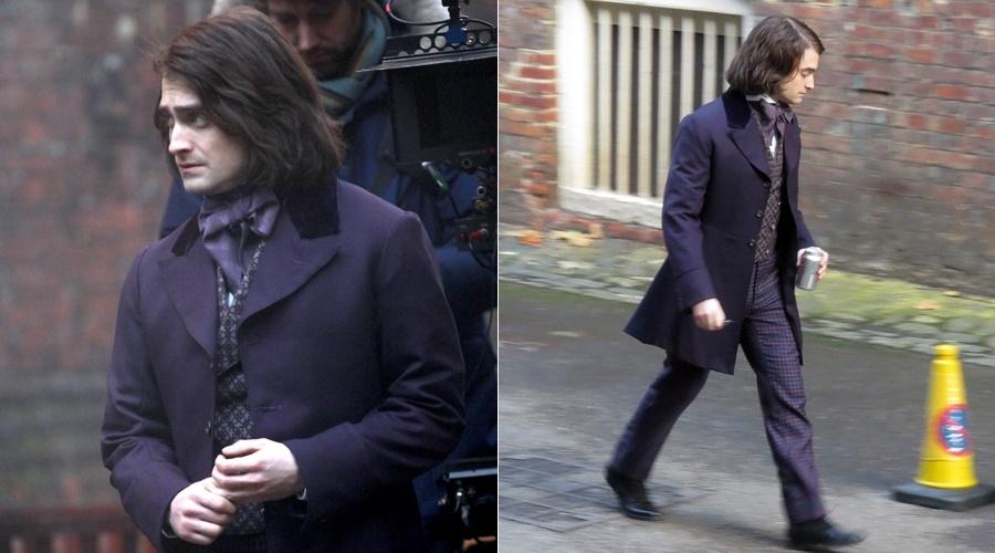 Daniel Radcliffe no set do filme