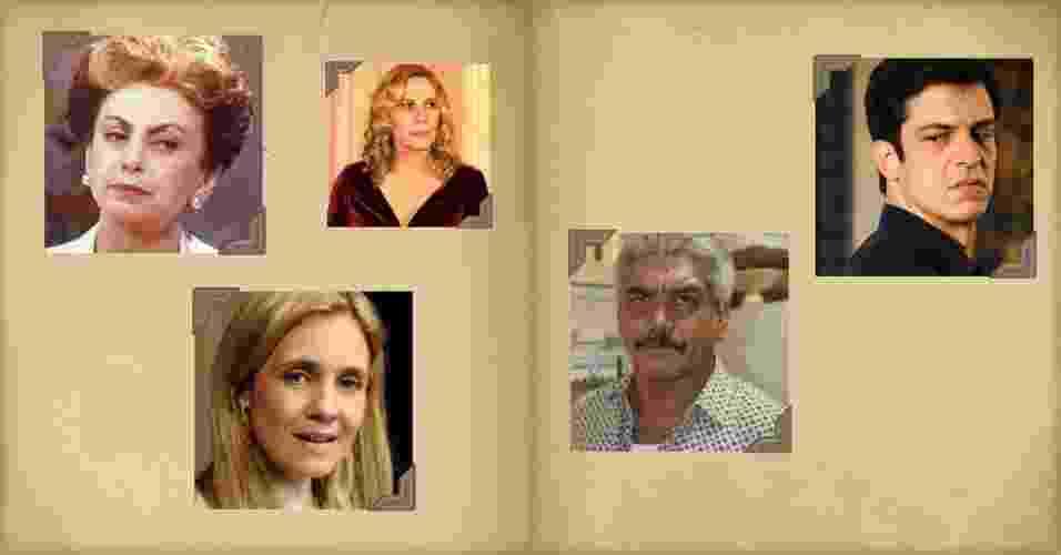 Montagem com personagens de novela - Montagem