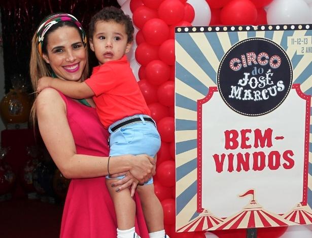 Wanessa teve José Marcus (no colo) por cesárea; seu caçula nasceu de parto normal - Manuela Scarpa e Marcos Ribas/Photo Rio News