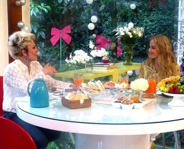 12.dez.2013 - Ana Maria Braga grava participação no programa