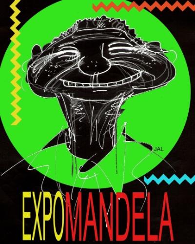 Capa da Flash Expo em homenagem a Nelson Mandela organizada pelo cartunista Jal