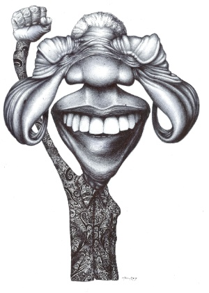 Caricatura de Nelson Mandela por Monico Reis