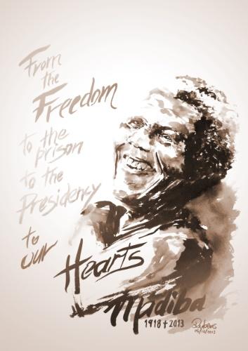 Homenagem de Rubens Junior a Nelson Mandela
