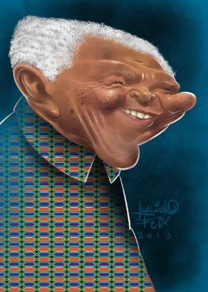 Luciano Félix homenageia Mandela