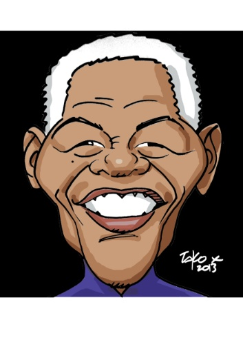 Mandela é retratado pelo artista Tako X