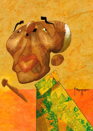 Nelson Mandela aparece em caricatura de Fraga
