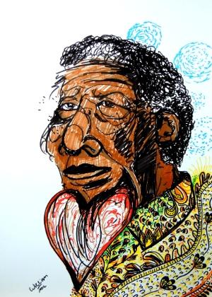 Nelson Mandela no traço de William Martins