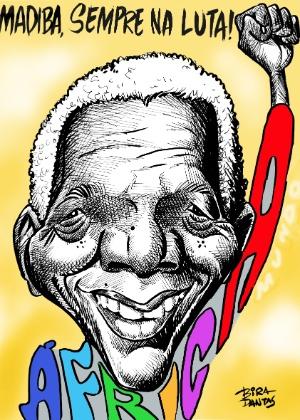 """O cartunista Bira Dantas homenageia militância de Nelson """"Madiba"""" Mandela"""