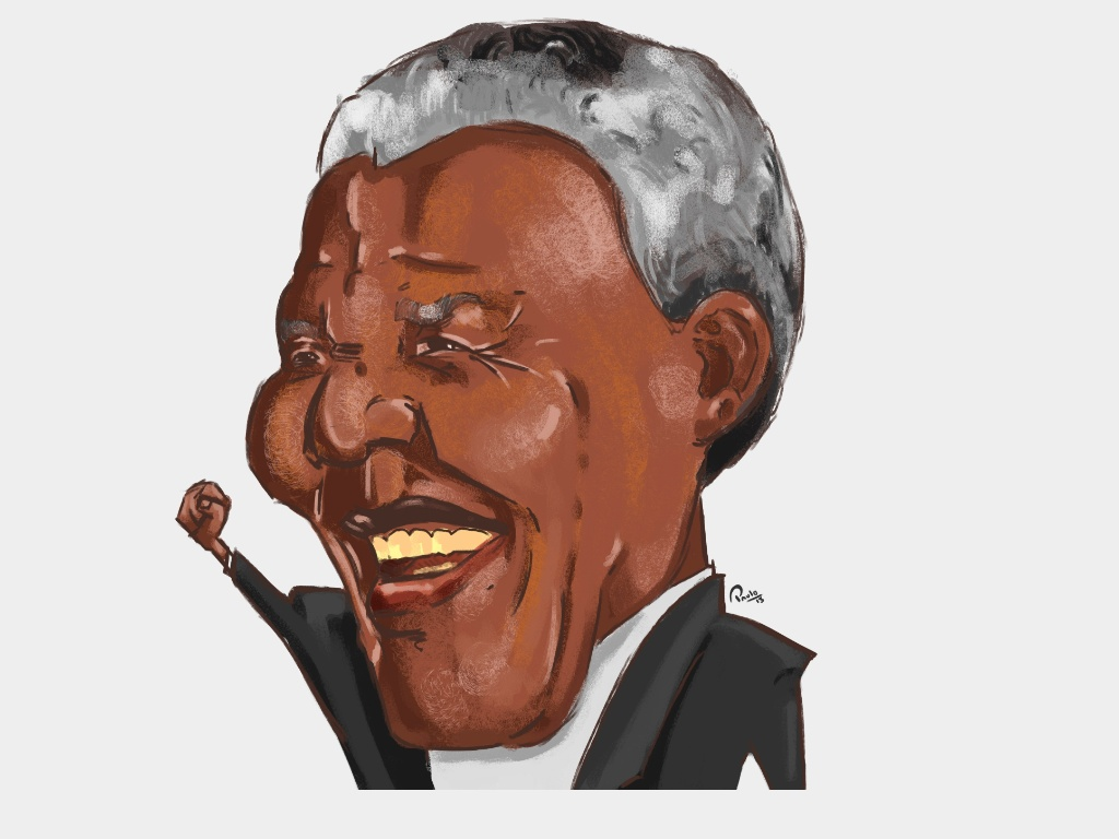 Paulo Jr eterniza o gesto de luta de Nelson Mandela