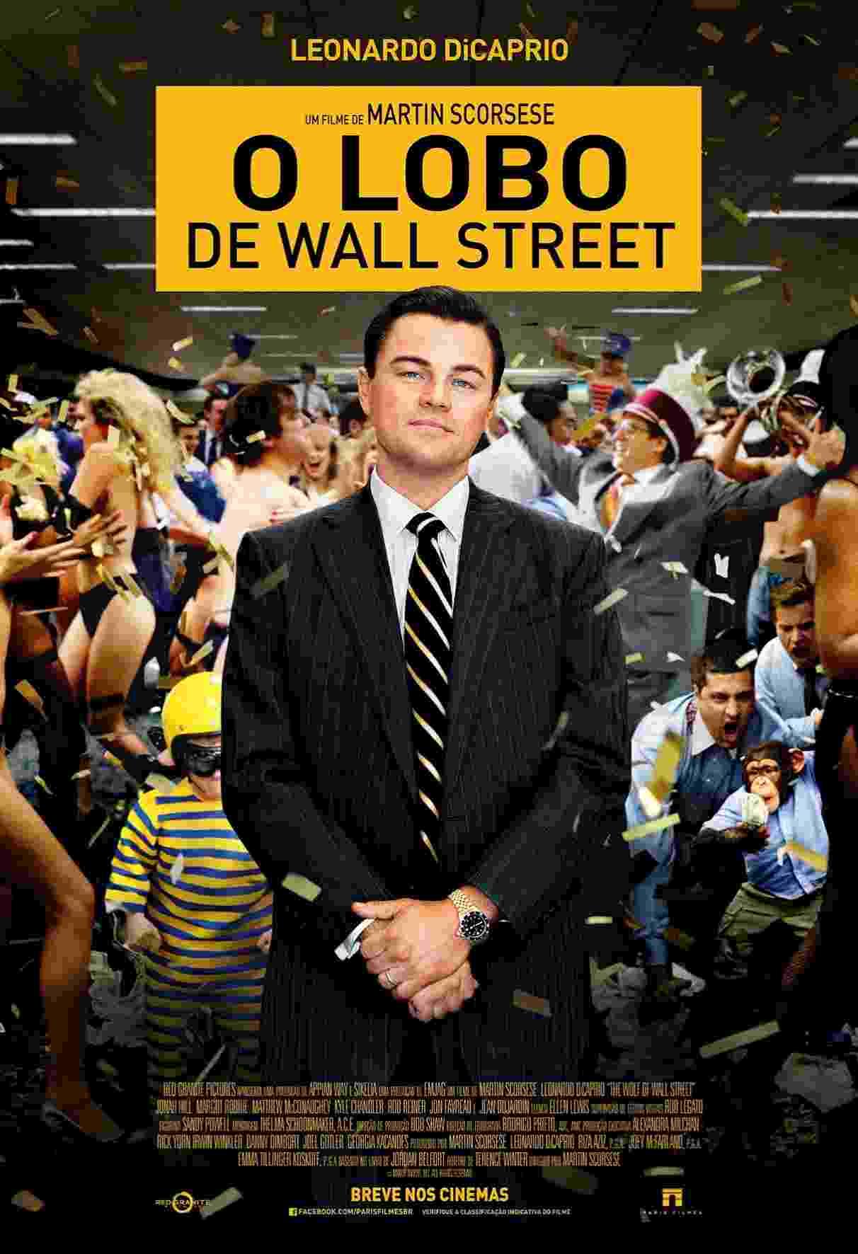 """Pôster em português de """"O Lobo de Wall Street"""" - Divulgação/Paris Filmes"""
