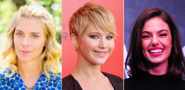 """Loiro platinado, corte """"pixie"""" e médio bagunçado estão entre as apostas dos cabeleireiros - TV Globo/Getty Images/MontagemUOL"""