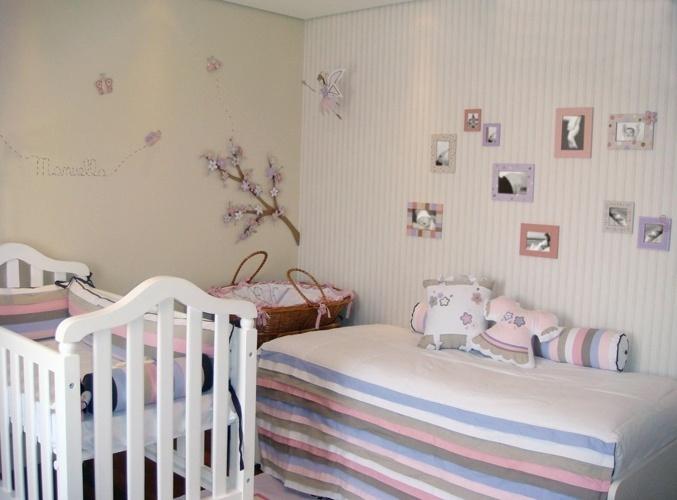 As cerejeiras comuns no Japão são o tema desse quarto de bebê feito pela empresa Ateliê Criare (www.ateliecriare.com.br)