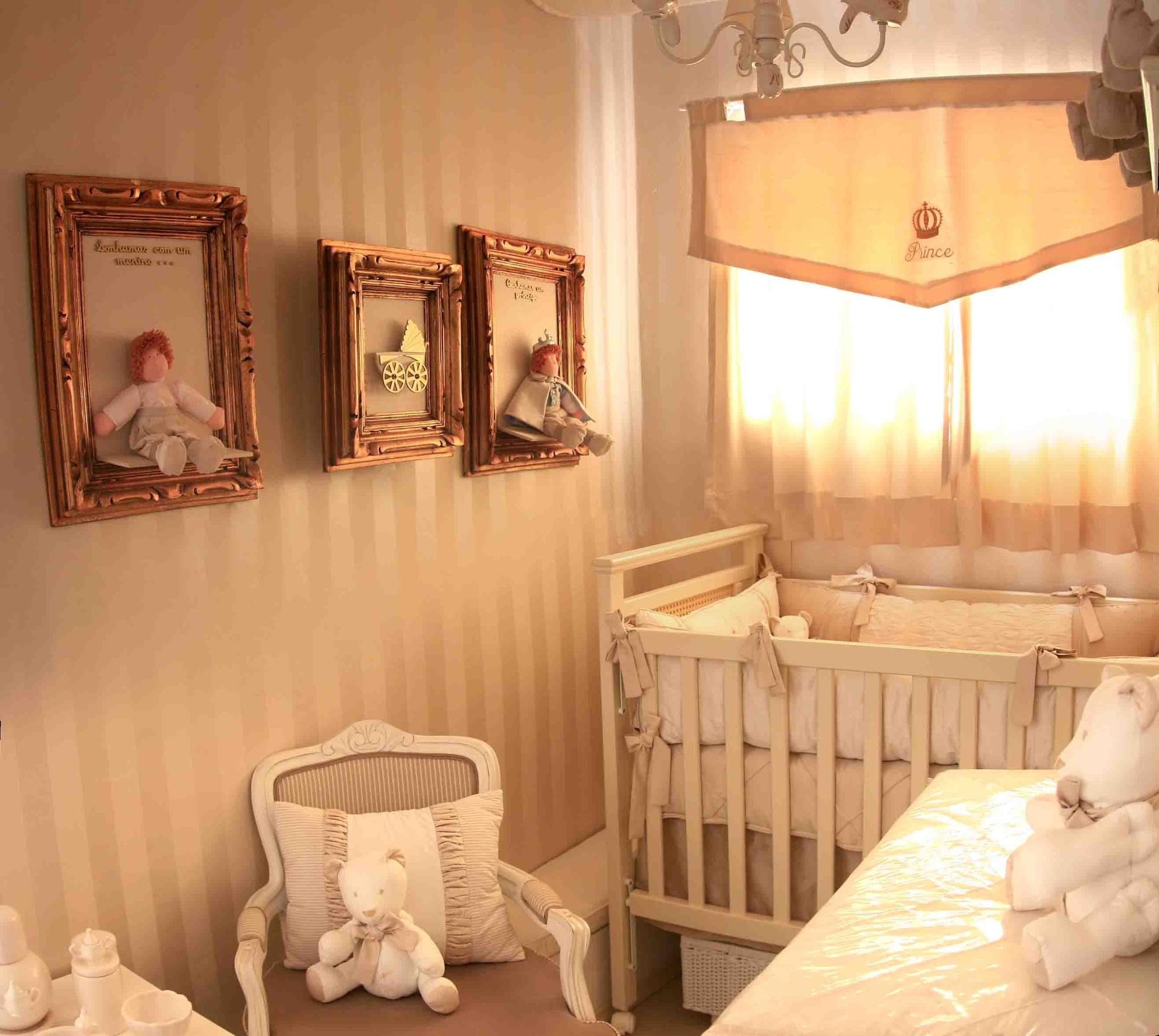 Projeto da Mama Art para um quarto de bebê menino com o tema príncipe
