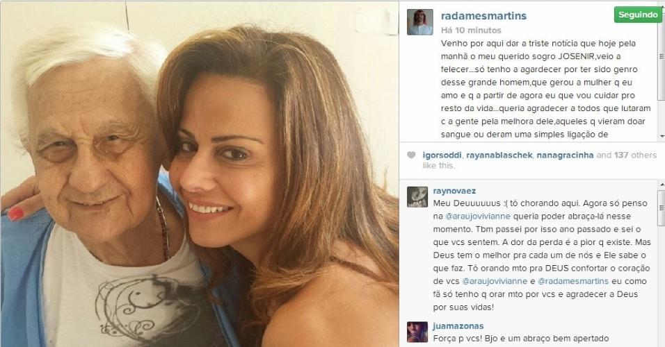16.dez.2013 - Morre no Rio de Janeiro o pai da modelo Vivi Araujo
