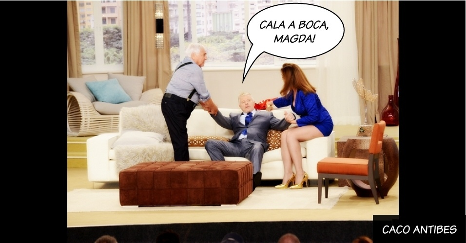 """Caco Antibes, interpretado por Miguel Falabella em """"Sai de Baixo"""", da Globo"""