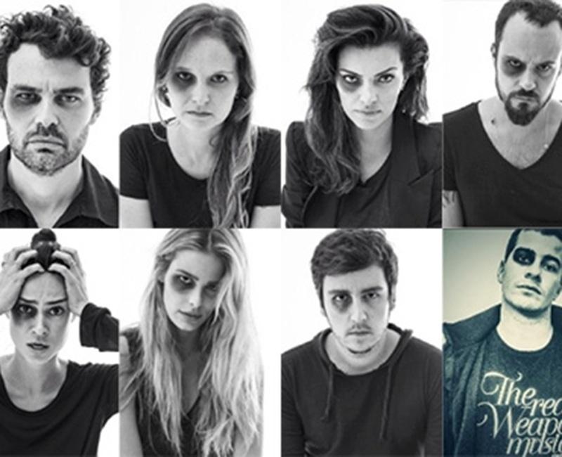 """Em junho, vários famosos participaram do protesto fotográfico """"Dói em Todos Nós"""", do fotógrafo Yuri Sardenberg"""