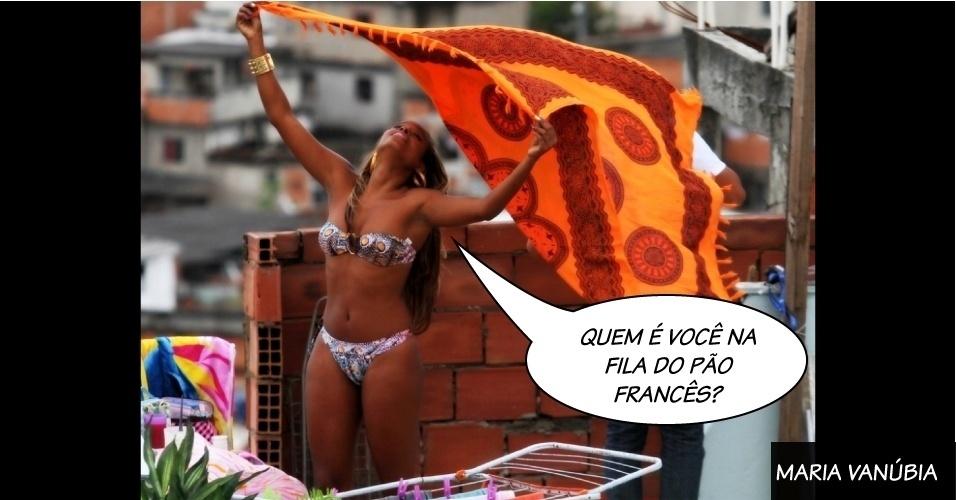 "Maria Vanúbia, personagem interpretada por Roberta Rodrigues na novela ""Salve Jorge"", da Globo"