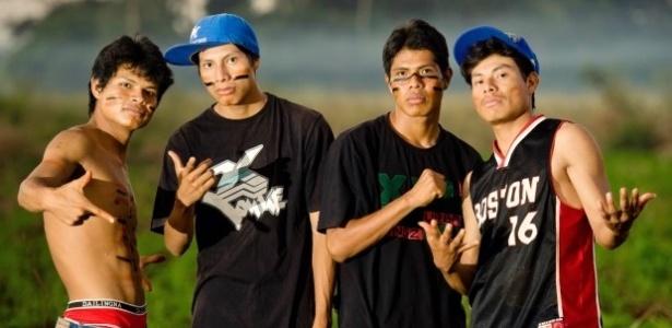 Os integrantes do grupo de Rap MC Bros, da etnia Guarani Kaiowá - Divulgação