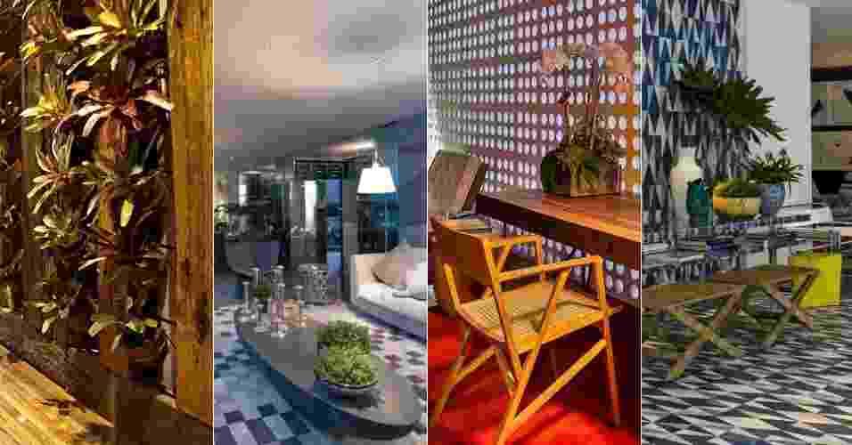 Retrospectiva tendências 2013 - Decoração e Arquitetura - Montagem UOL/ Divulgação/ Katia Kuwabara - UOL