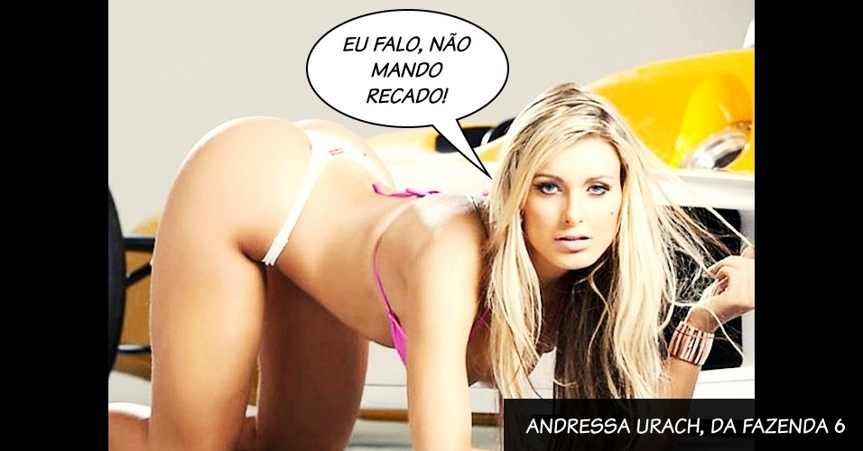 "Andressa Urach, do programa ""A Fazenda 6"", da Record"