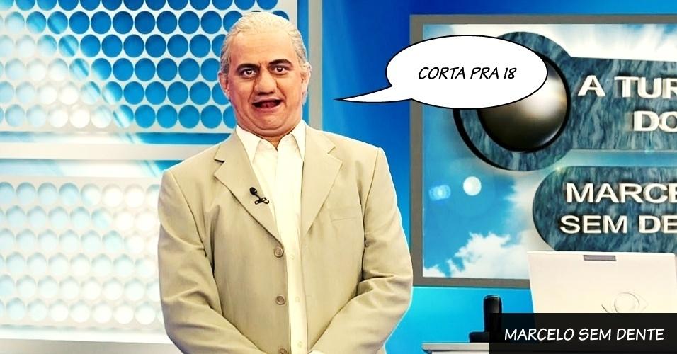 """Carioca interpreta Marcelo Sem Dente no """"Pânico na Band"""""""