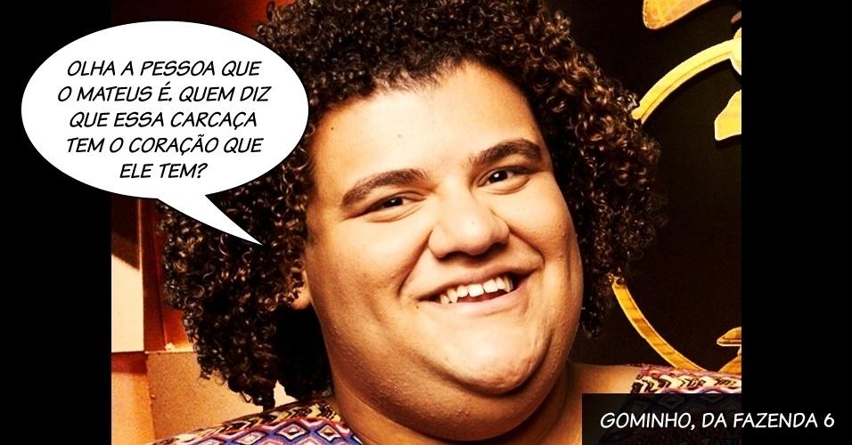 """Gominho, do reality show """"A Fazenda 6"""""""