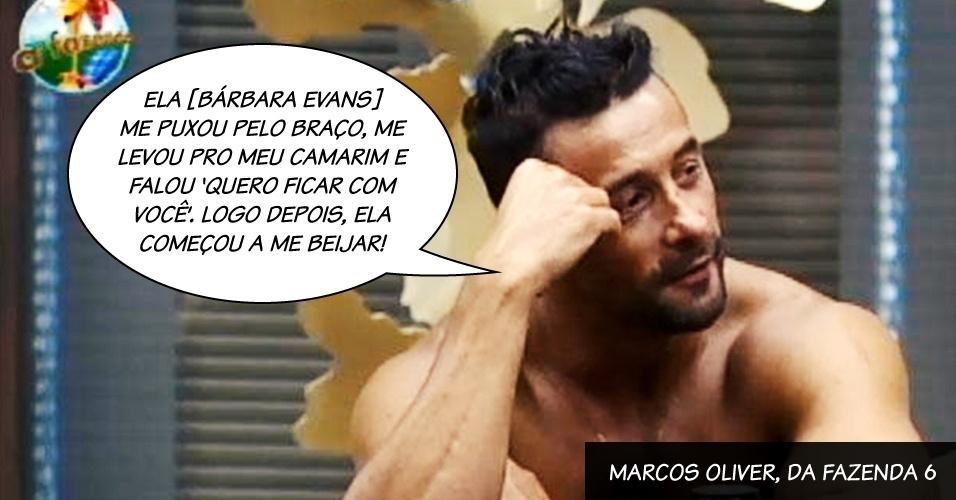 """Marcos Oliver, do programa """"A Fazenda 6"""""""