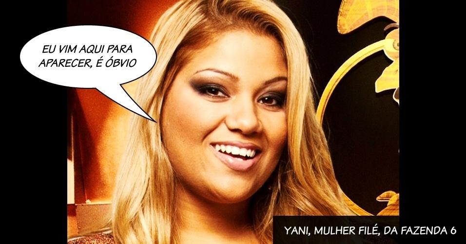 """Yani, Mulher Filé, do programa """"A Fazenda"""", da Record"""