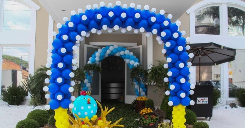 19.dez.2013 - Detalhe da decoração da festa de Helena, filha caçula de Rodrigo Faro, que teve como tema