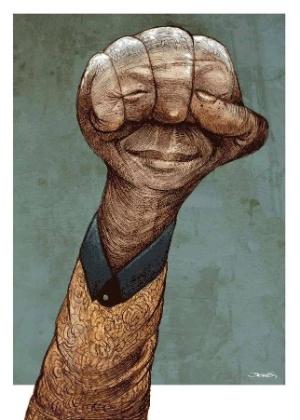 Daniel Castillejos cria caricutra em homenagem a Mandela