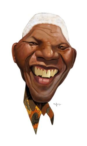 Tributo do cartunista Paffaro a Mandela