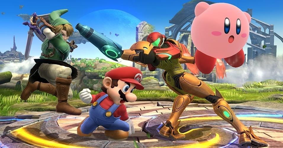 """A pancadaria vai rolar solta novamente entre os ícones da Nintendo e além, desta vez tanto no Wii U quanto no 3DS, com o lançamento do novo """"Super Smash Bros."""""""