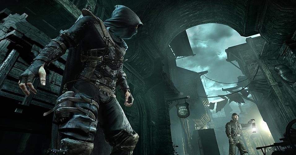 """Após uma década, Garrett retorna às sombras em """"Thief"""" (Windows, PS3, PS4, X360, XBO), reboot da série premiada que ajudou a definir o gênero stealth"""