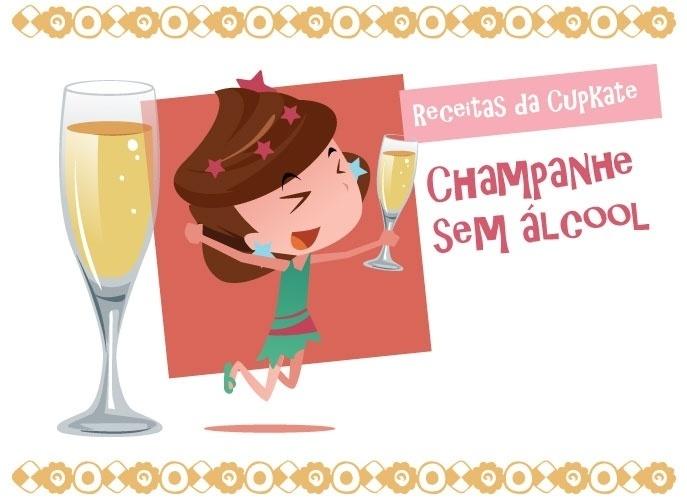 Aprenda a fazer champanhe sem álcool para crianças brindarem