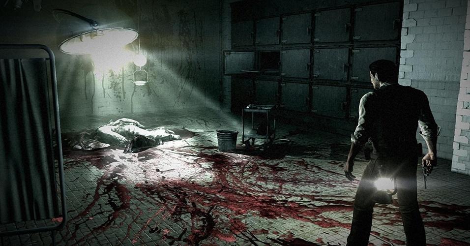 """Desenvolvido pelo criador de """"Resident Evil"""", """"The Evil Within"""" (Windows, PS3, PS4, X360, XBO) leva o policial Sebastian Castellanos a descobrir horrores encontrados em um hospital psiquiátrico"""
