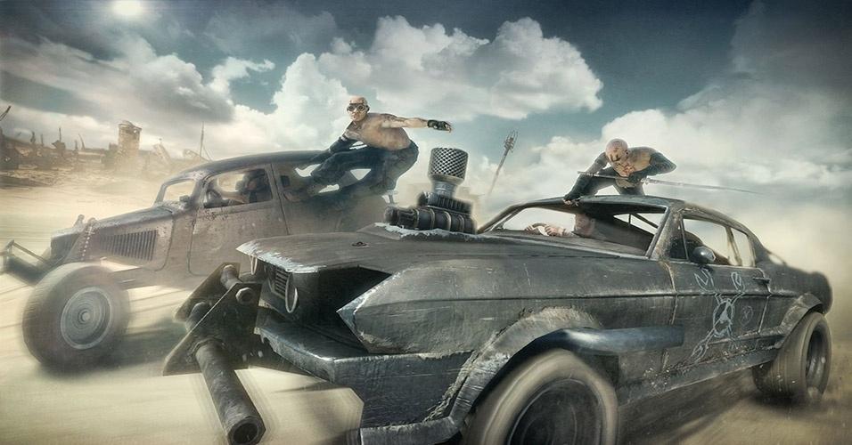 """Do mesmo estúdio de """"Just Cause 2"""", """"Mad Max"""" (Windows, PS3, PS4, X360, XBO) traz a violência e velocidade dos clássicos de ação do cinema para os videogames"""
