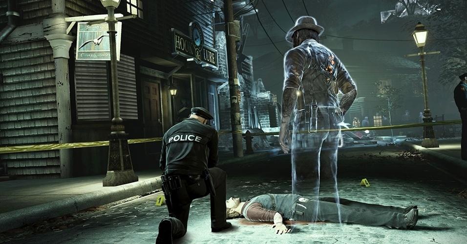 """""""Murdered: Soul Suspect"""" (Windows, PS3, X360) foi inspirado pela ideia do que aconteceria se John McClane fosse morto e virasse um espírito durante """"Duro de Matar"""""""