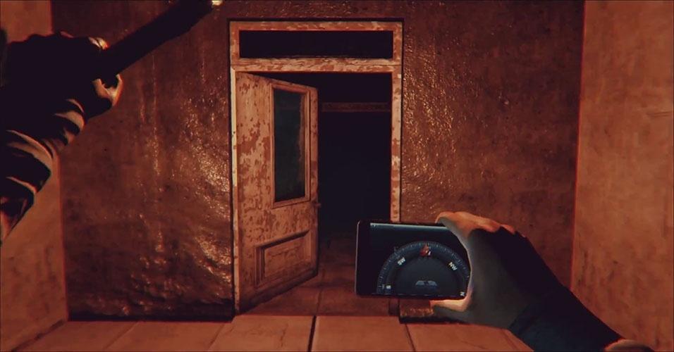 """No survival horror """"Daylight"""" (Windows, PS4), sua principal fonte de iluminação é um celular"""