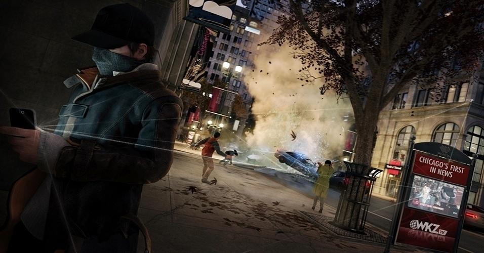 """Originalmente previsto para novembro, """"Watch Dogs"""" (Windows, PS3, PS4, X360, XBO, Wii U) promete ao jogador manipular e descobrir segredos com tecnologia em Chicago como o super hacker Aidan Pearce"""