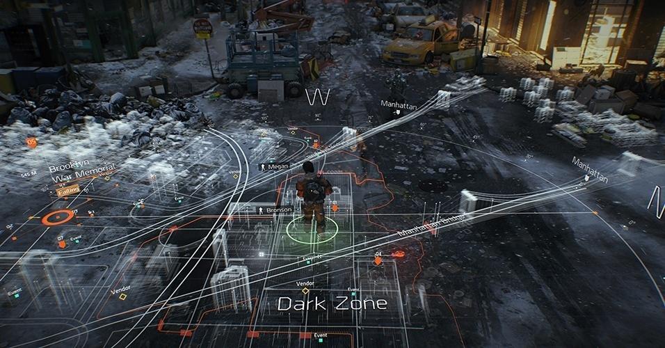 """""""Tom Clancy's The Division"""" (Windows, PS4, XBO) um MMO de tiro em terceira pessoa nos Estados Unidos devastados, e uma das grandes apostas da Ubisoft para a nova geração de consoles"""