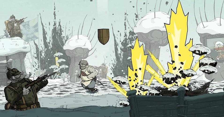 """""""Valiant Hearts: The Great War"""" (Windows, PS3, PS4, X360, XBO) é um adventure de quebra cabeças baseados em eventos verídicos da Primeira Guerra Mundial"""