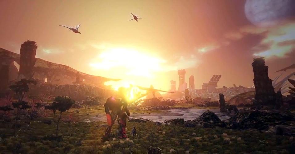 """""""X"""" é um exclusivo do Wii U da mesma produtora de """"Xenoblade Chronicles"""" e terá a utilização de mechs para exploração de ambientes na água e ar"""