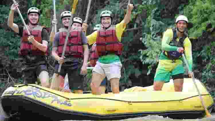 Daniel durante prática de rafting no Rio Jacaré - AgNews - AgNews