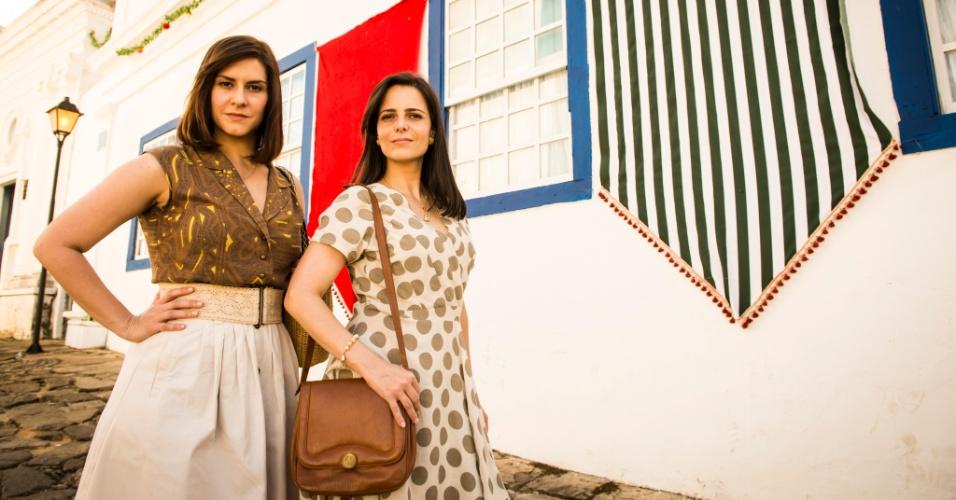 """Camila Raffanti e Juliana Araripe são Selma e Chica, respectivamente, na segunda fase de """"Em Família"""""""