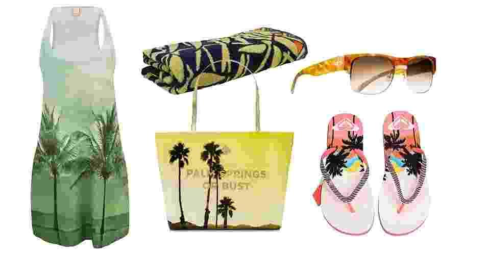 As estampas tropicais têm tudo a ver com o verão, e o tema pode ajudar a combinar as peças que vão na bolsa de praia - Divulgação