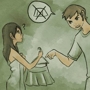 """ROUPA: tentar mudar qualquer coisa no seu parceiro é uma tentativa de controle, e raramente isso traz bons frutos para o relacionamento. """"Ninguém controla a roupa de ninguém. O gosto por roupas vai de acordo com a personalidade de cada pessoa. Respeite o tipo de roupa que o seu parceiro gosta de usar"""", diz a psicóloga Pamela Magalhães - Leh Latte/UOL"""