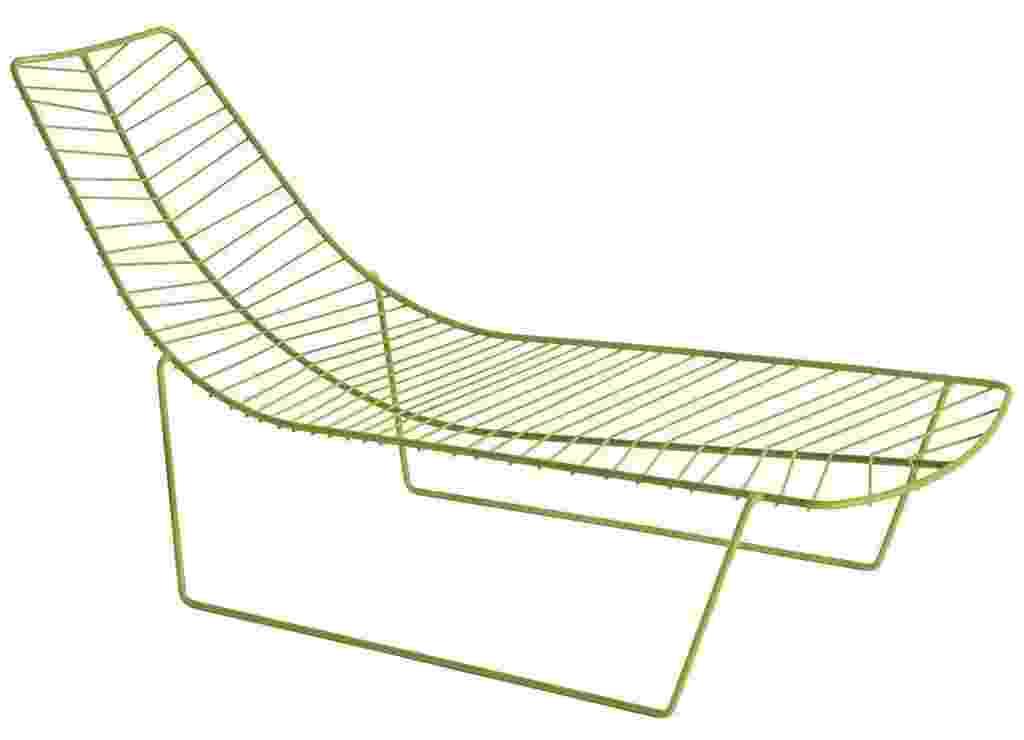 As formas da natureza serviram e inspiração para os designers Lievore, Altherr e Molina criarem a chaise longue Leaf para a Arper. A peça em aço com pintura epóxi pode receber almofada removível em poliuretano vendida separadamente. À venda por R$ 12.836 na Benedixt (www.benedixt.com.br) - Divulgação