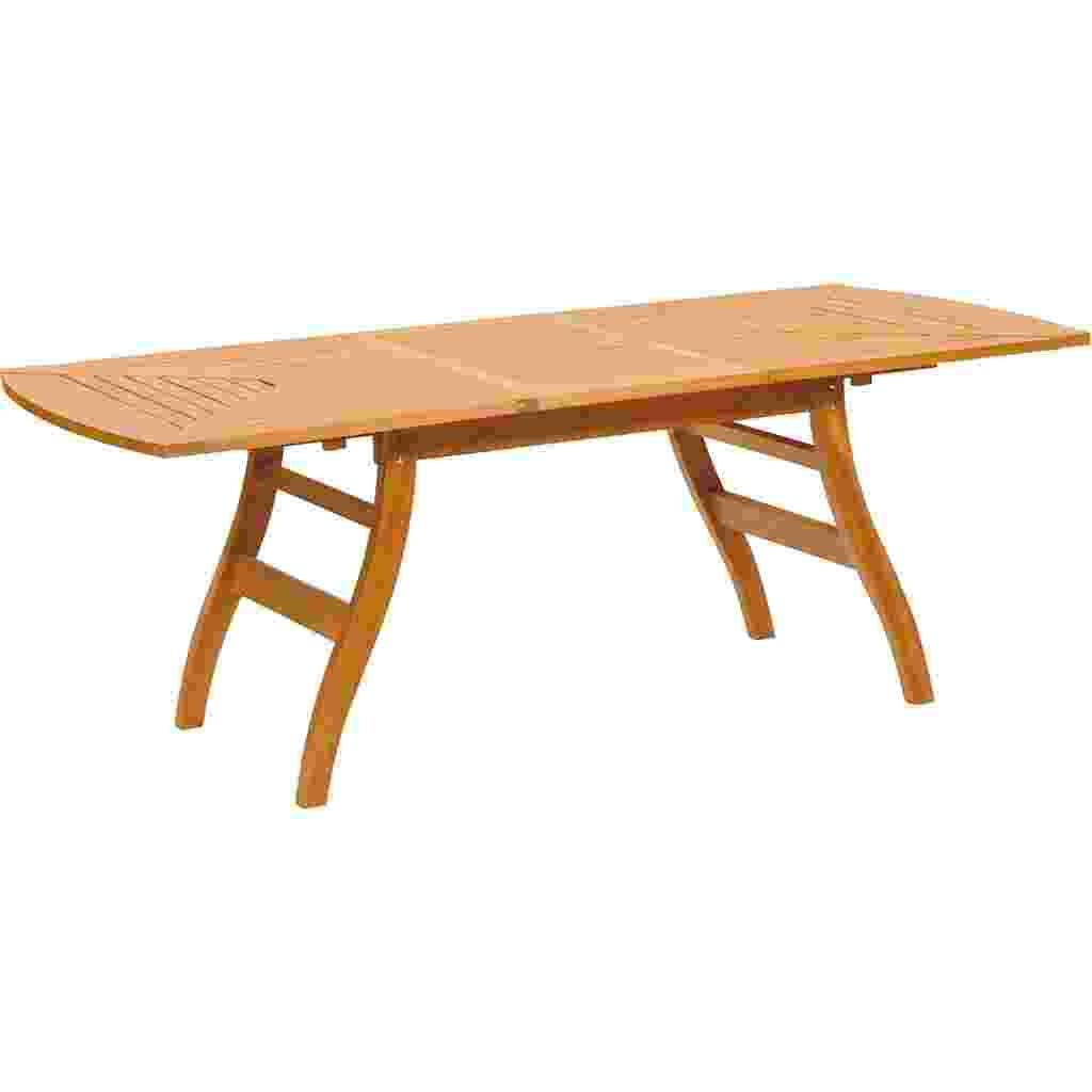 Com design leve, a mesa retangular Flex tem tampo trabalhado em madeira jatobá. O móvel, submetido a tratamento superficial para elevar sua resistência a intempéries, mede 71 x 100 x 211 cm (alt. x larg. x prof.). À venda nas lojas Americanas.com (www.americanas.com) por R$ 3.099 - Divulgação